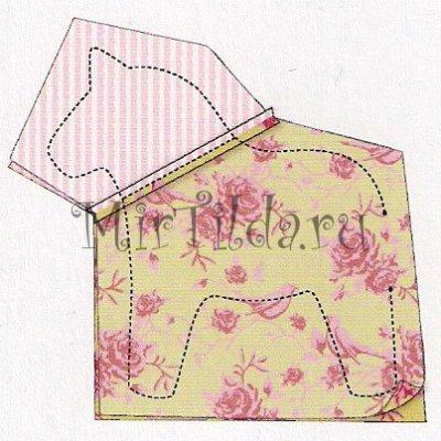 Переводим выкройку лошадки на ткань