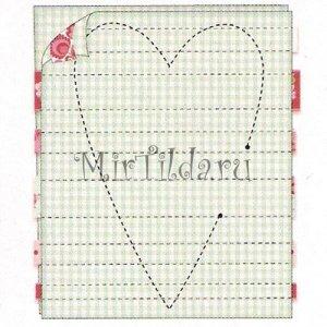 Переводим выкройку сердечка на ткань