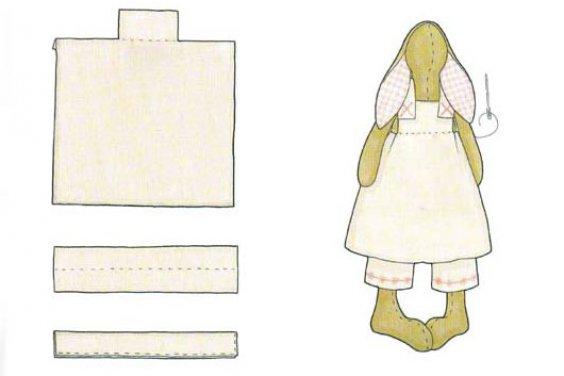 Выкройка платья для кролика