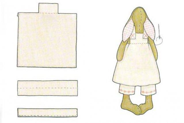 выкройки одежд для зайцев тильд