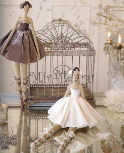 Очаровательные балерины тильдочки