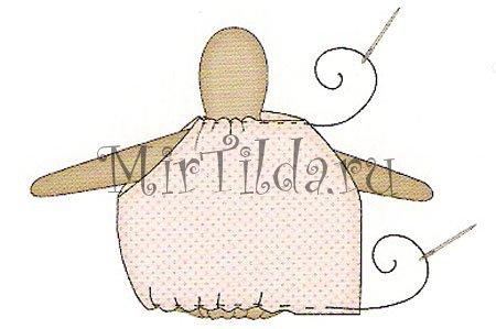 Пришиваем платье на куколку