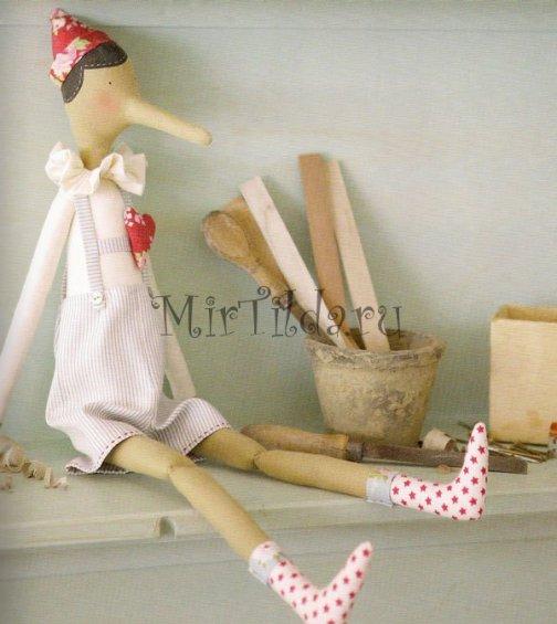 Тильда кукла пиноккио