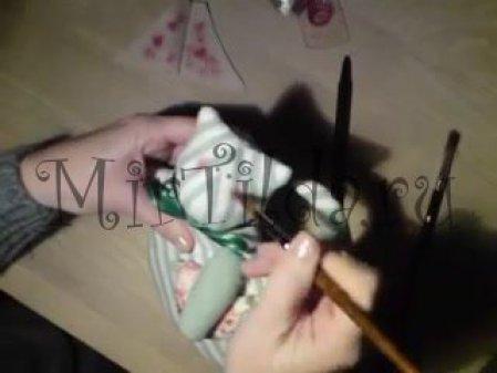 Рисуем щёчки коту