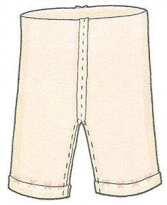Прошиваем заготовку штанов и выворачиваем