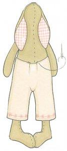 Пришиваем штаны к тельцу куклы