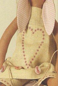 Вышивка сердечка на фартуке