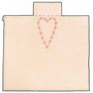 Вышиваем сердечку на заготовке платья