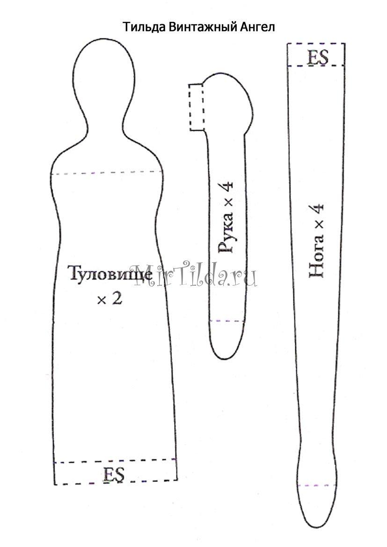 выкройка тильда грелка