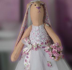 Зайка тильда - невеста