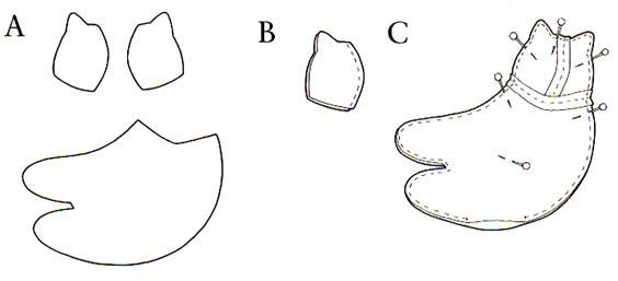 Кот тильда - схема шитья