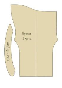 Выкройка беременной тильды - рука и брюки