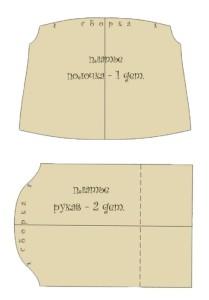 Выкройка беременной тильды - платье