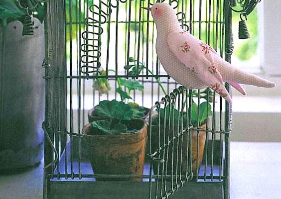 Птичка тильда с клеткой