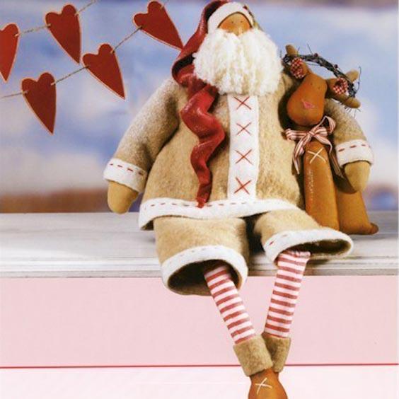 Санта с оленем - дед мороз