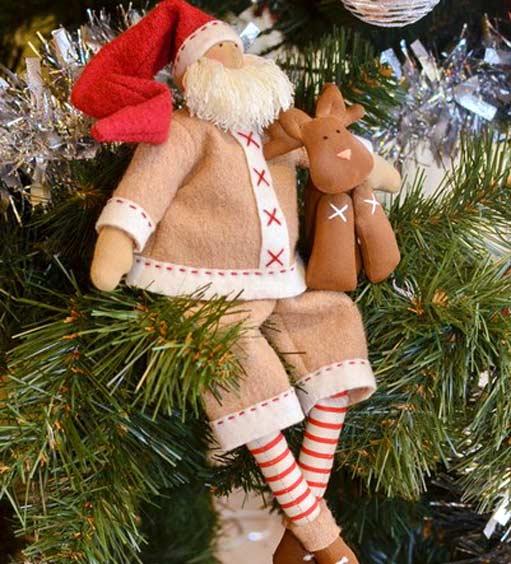 Санта с оленем -дед мороз