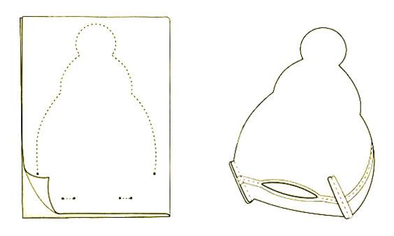 Схема шитья тильда снеговика