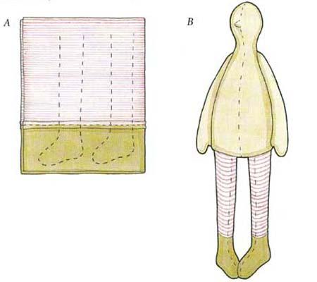 Делаем тельце куклы