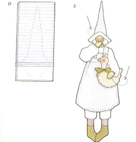 Пришиваем шляпу и гуся