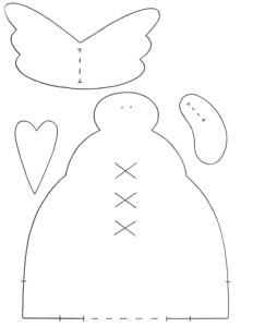 Выкройка тильда снеговик с ручками