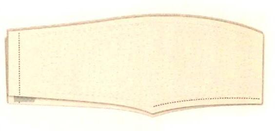 Сшейте вместе две сложенные пополам части брюк