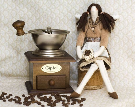 кукла тильда кофейная фея