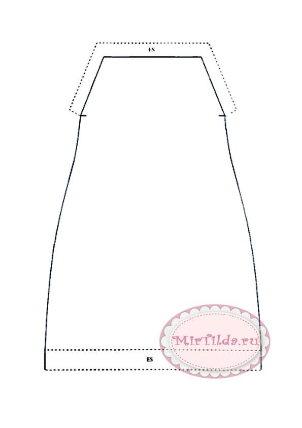 Морская тильда девочка - выкройка одежды