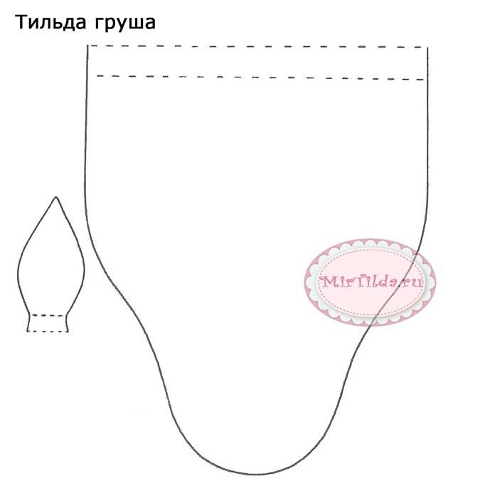 Груша тильда выкройка