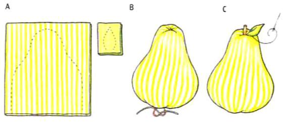 Груша тильда - схема шитья