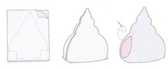 Ракушка тильда схема шитья