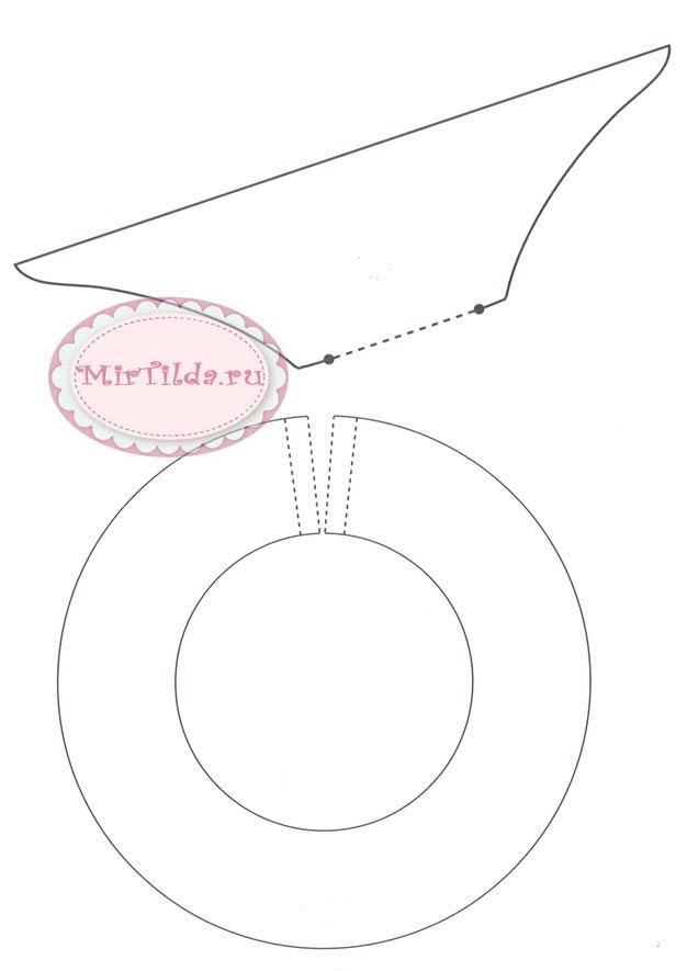 Плавчиха тильда с кругом выкройка