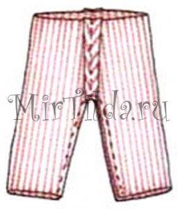 Прострачиваем штанишки