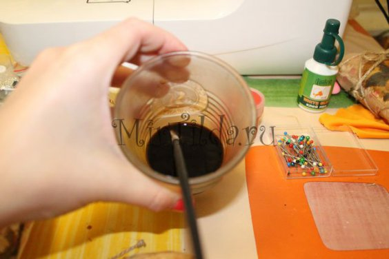 Раствор из кофе и корицы