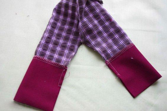 Отвороты на штанишках