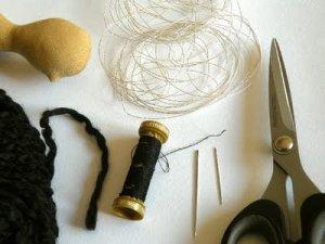 Материалы для причёски тильды
