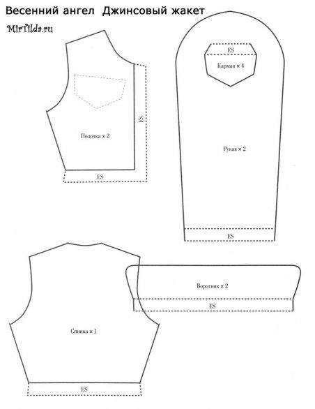 Выкройка одежды для тильды - жакет